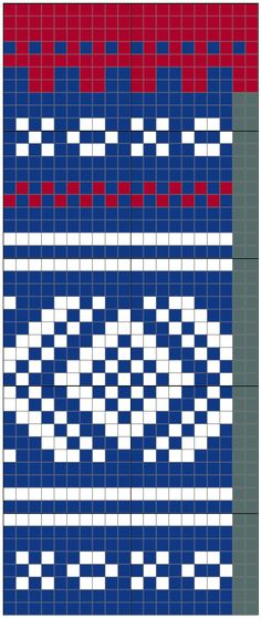 Marius Racer back Knitting Charts, Knitting Stitches, Knitting Patterns Free, Beads Pictures, Fair Isle Pattern, Fair Isle Knitting, Diy Necklace, Needlepoint, Knitted Hats