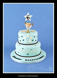 Pioneer cheerleading cake by Little Cherry Cake Company, via Flickr