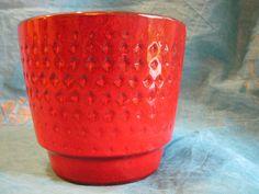 Vintage Fat Lava Planter Plant Pot – presumably Ubelacker Übelacker Ü-Keramik – red & black – 1960s 1970s Design – WGP – Mid Century – retro von everglaze auf Etsy