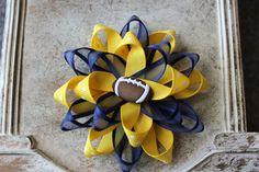 Michigan Wolverines inspired Flower Hair Bow or by MyPurpleMonkey