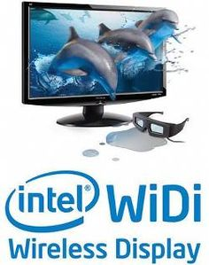 INTEL'S WIDI 3.5 SUPPORTS STEREOSCOPIC 3D  The ex-Wireless Display connection is now called WiDi 3.5 in its last incarnation by Intel. Of course, Widi 3.5 is connecting displays wirelessly and supports Windows 8 and DLNA, but it does handle also 3D stereoscopic (in side-by-side 1080p mode).