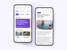 News App by Alberto Macherelli on Dribbble Best App Design, Web Design, App Ui Design, Android App Design, Iphone App Design, Ui Design Mobile, Restaurant App, Event App, Ecommerce App