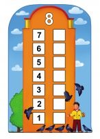 Number Houses Counting Sheets for Young Children (Six Through Ten) Kindergarten Centers, Math Centers, Math For Kids, House Numbers, Printable Coloring Pages, Math Activities, Kids Learning, Counting, Things To Come