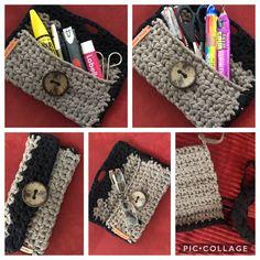 Crochet Pouch, Handmade, Bags, Fashion, Handbags, Moda, Crochet Tote, Hand Made, Fashion Styles
