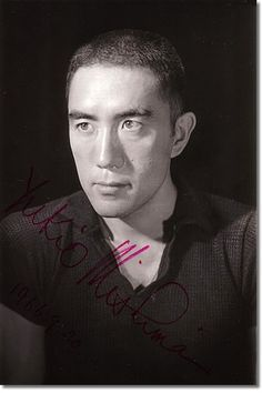 ○三島由紀夫決起・自決から41年(s45/11/25) Amazing signed photo of Yukio Mishima, dated 1966-9-20