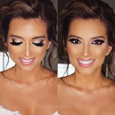 Love all my beautiful brides! Now booking Airbrush wedding glam for 2017 ❤️ Email: Jadeywadey180@gmail.com XO