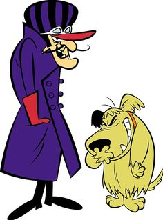 old cartoons from the 50's and 60's   Dick Dastardly and Muttley, the villains from the Wacky Races cartoons ...