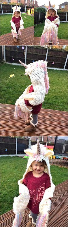 Cute Hooded Scarf for Kids   1001 Crochet by 1001crochet