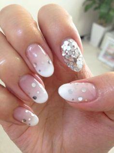 ombre french mani with some sparkle :)