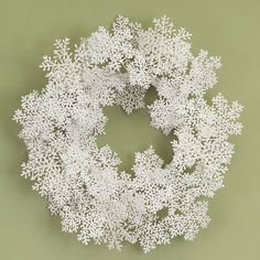 Have to have it. Merlose International 20 in. Glitter Snowflake Wreath $29.99
