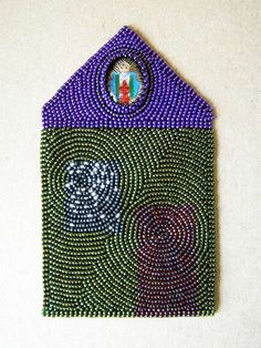 'House' by Jennifer Whitten. Vintage cabachon, measures 94mm x 152mm following the 'golden rectangle'.