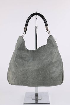 "YVES SAINT LAURENT A/W 2010 ""Roady"" Gray Stingray Leather Hobo Bag Purse YSL 