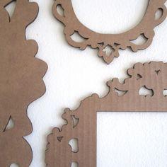 Decorative Cardboard Frames Photobooth Frames Paper por FabParlor