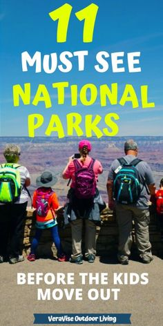 """These 11 US National Parks are a """"must see"""" before the kids grow up and move out! If you can only visit a few before they grow up better put these on the US National Parks List. babies flight hotel restaurant destinations ideas tips Hiking With Kids, Travel With Kids, Family Travel, Packing List For Travel, Travel Tips, Travel Destinations, Travel Hacks, Travel Ideas, Us National Parks List"""