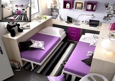 Beds For Small Rooms, Small Room Bedroom, Room Decor Bedroom, Home Bedroom, Kids Bedroom, Bedrooms, Space Saving Furniture, Home Furniture, Furniture Design