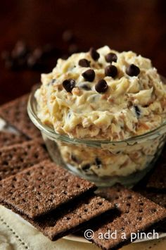 Cookie Dough Dip Recipe from addapinch.com ~ this sounds amazingly unhealthy and delicious. I want to make an allergy free version