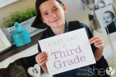 Free first day of school printables for first day photos