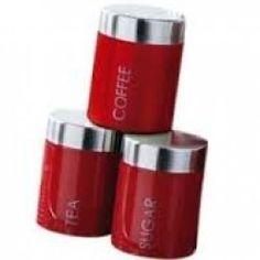 storage jars tea coffee sugar canisters with slate tag cream color