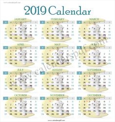 9 Best Cute Calendar 2019 Images