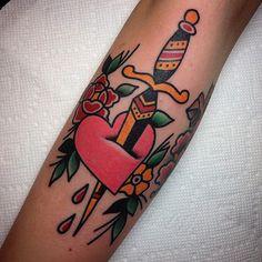 dagger tattoo by tony talbert