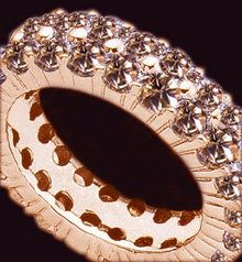 Diamond eternity band chocolate diamonds pink gold new