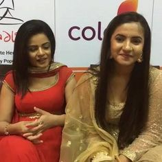 Jigyasa Singh & Meera Deosthale at the Colors & Laadli association Press Meet! Couple Photoshoot Poses, I Am A Queen, Indian Bridal, I Am Awesome, Meet, Actresses, Stars, Tv, My Love