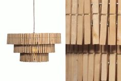 Love this as a fun DIY chandelier in the laundry room to replace the fluorescent light