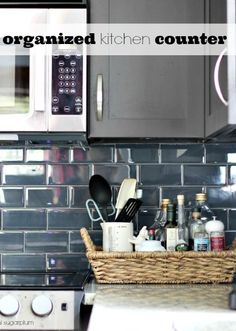 Hi Sugarplum | Organize the clutter next to your Kitchen Stovetop