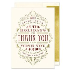 Appreciation Typography Greeting Card | Fine Stationery