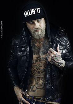 Josh Mario John and his beard. Beards, Sexy men, Handsome men, Hot men. Tattoos, Ink. Bearded Men. Photo by Niki Stad