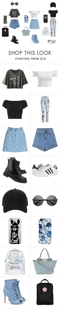 """Say i hate you but with love"" by withered-faces on Polyvore featuring moda, Helmut Lang, Marc Jacobs, Pink Stitch, Dr. Martens, adidas, rag & bone, OTM Essentials, Accessorize y Valentino"