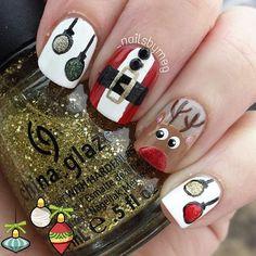 Christmas by _nailsbymeg #nail #nails #nailart