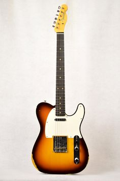 2017 Fender Custom Shop 1959 Telecaster Custom Relic 3-Tone Sunburst Telecaster Custom, Telecaster Guitar, Gibson Guitars, Fender Guitars, Fender Esquire, Fender Custom Shop, Bass, Electric, Music