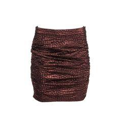 Roseanna Womens Metallic Textured Mini Skirt