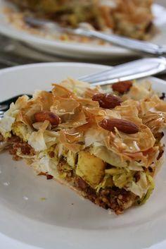 Almond and Chicken Bstilla Frisée