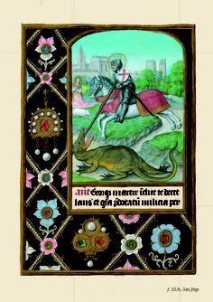 San Jorge y el Dragón. Libro de Horas de Isabel I de Castilla. British Library.