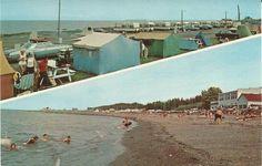 L'Hotel Motel Au Bec Fin, Ste-Luce-sur-Mer.   Après l'acquisition par M. Edmond Garon et Mme Lucie Coulombe en 1967, où ils furent propriétaire jusqu'au milieu des années 1980.  Cartes postales promotionnelles après la rénovation des grandes vitrines de la salle à manger.