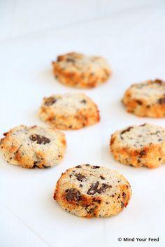 Kokos koekjes met pure chocola - Mind Your Feed