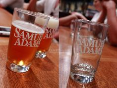 I drank some fresh beer at Samuel Adams brewery, in Boston Mass.