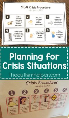 The key to managing crisis situations is getting your team on the same page. Download our Crisis Plan for free on the blog!! From theautismhelper.com #theautismhelper