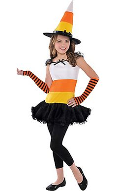 Girls Candy Corn Charmer Costume