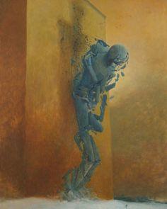 Zdzisław Beksiński - paintings I Dark Fantasy Art, Dark Art, Surrealism Painting, Horror Art, Surreal Art, Macabre, Painting & Drawing, Cool Art, Concept Art