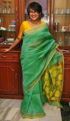 Pujo pujo Saris, Byloom Sarees, Khadi Saree, Indian Sarees, Sari Blouse, Saree Dress, Indian Attire, Indian Wear, Dressing Sense
