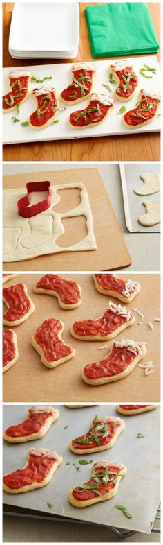 Adorable Crescent Roll Stockings recipe. So cute for a kids Christmas dinner idea.