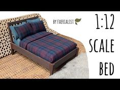 1:12 Scale Miniature Bed | Faerialist - YouTube