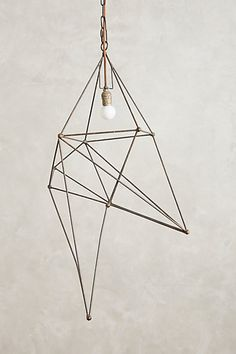 Tall Iron Web Pendant Lamp - #anthropologie