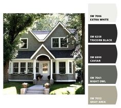 #Exterior #Paint #colors from Chip It! by Sherwin-Williams I love these colors! Man who knew that picking an exterior house color would be so hard?!