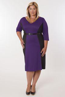 Madrid Dress Purple and Black