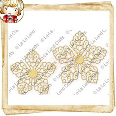 La-La Land Crafts Die - Winter Flowers  - Our dies work with most tabletop die cutting machines, such as the Cuttlebug and Big Shot. Our dies cut through paper, cardstock, vellum, felt, cork, accetate and more!
