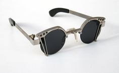 unisex round Goth Steampunk stainless steel sunglasses unusual unique Hi Tek | hitek-webstore.com